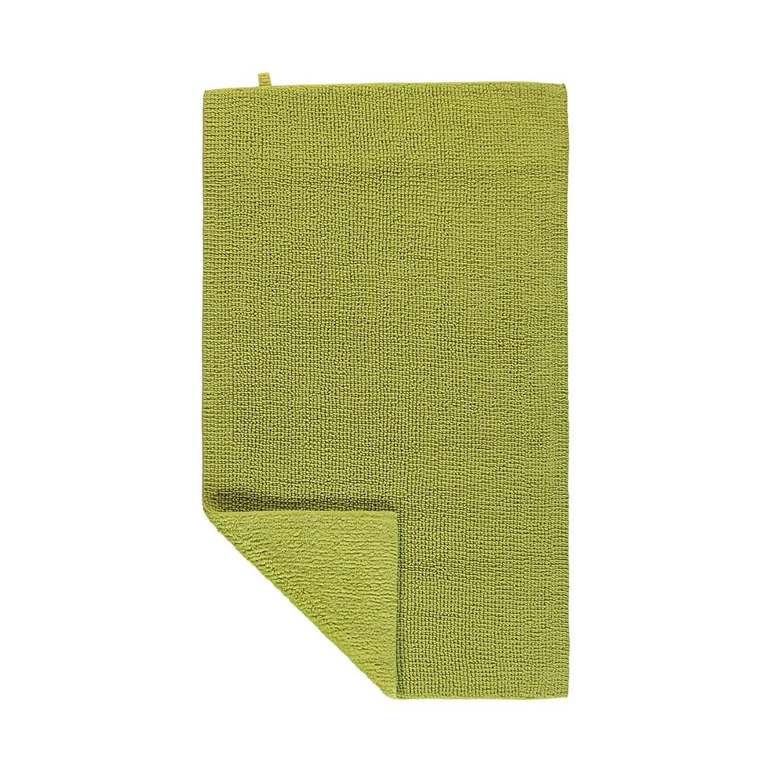 Badteppiche Pur - 100% Baumwolle limette - 208 - 70 x 130 cm, Rhomtuft