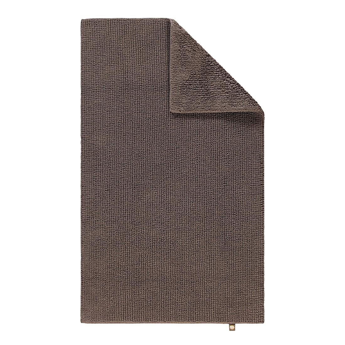 Badteppiche Pur – 100% Baumwolle taupe – 58 – 70 x 130 cm, Rhomtuft online kaufen