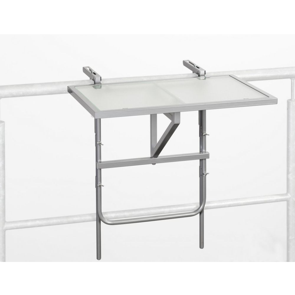 Balkonklapptisch Opal I - Stahl / Glas, Merxx