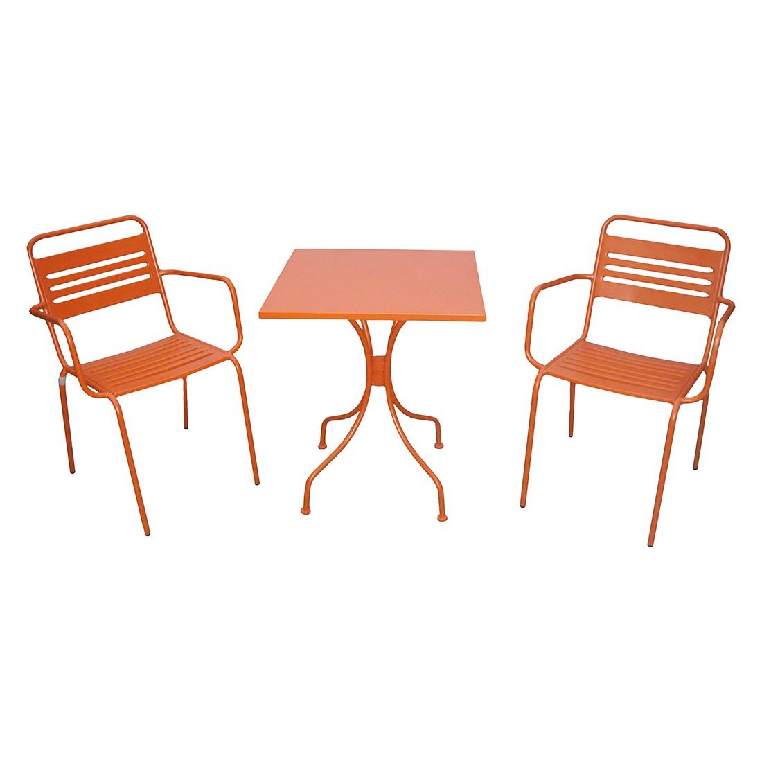 Balkonmöbelset Jovy (3-teilig) - Stahl Orange, Garden Guerilla