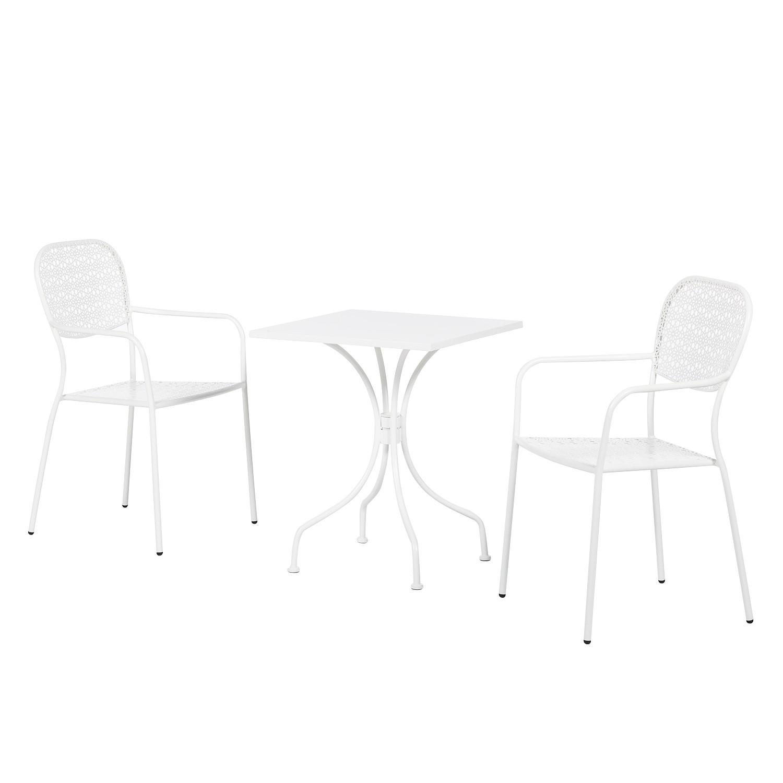 Balkonmöbelset Jovy (3-teilig) - Stahl Weiß, Garden Guerilla
