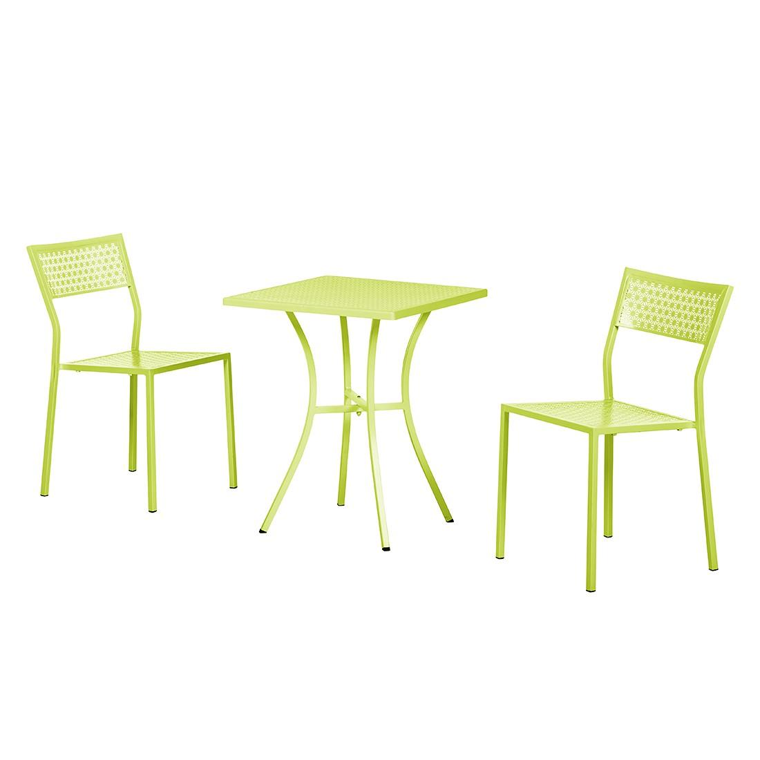 Balkonmöbelset Pini (3-teilig) - Stahl Hellgrün, Garden Guerilla