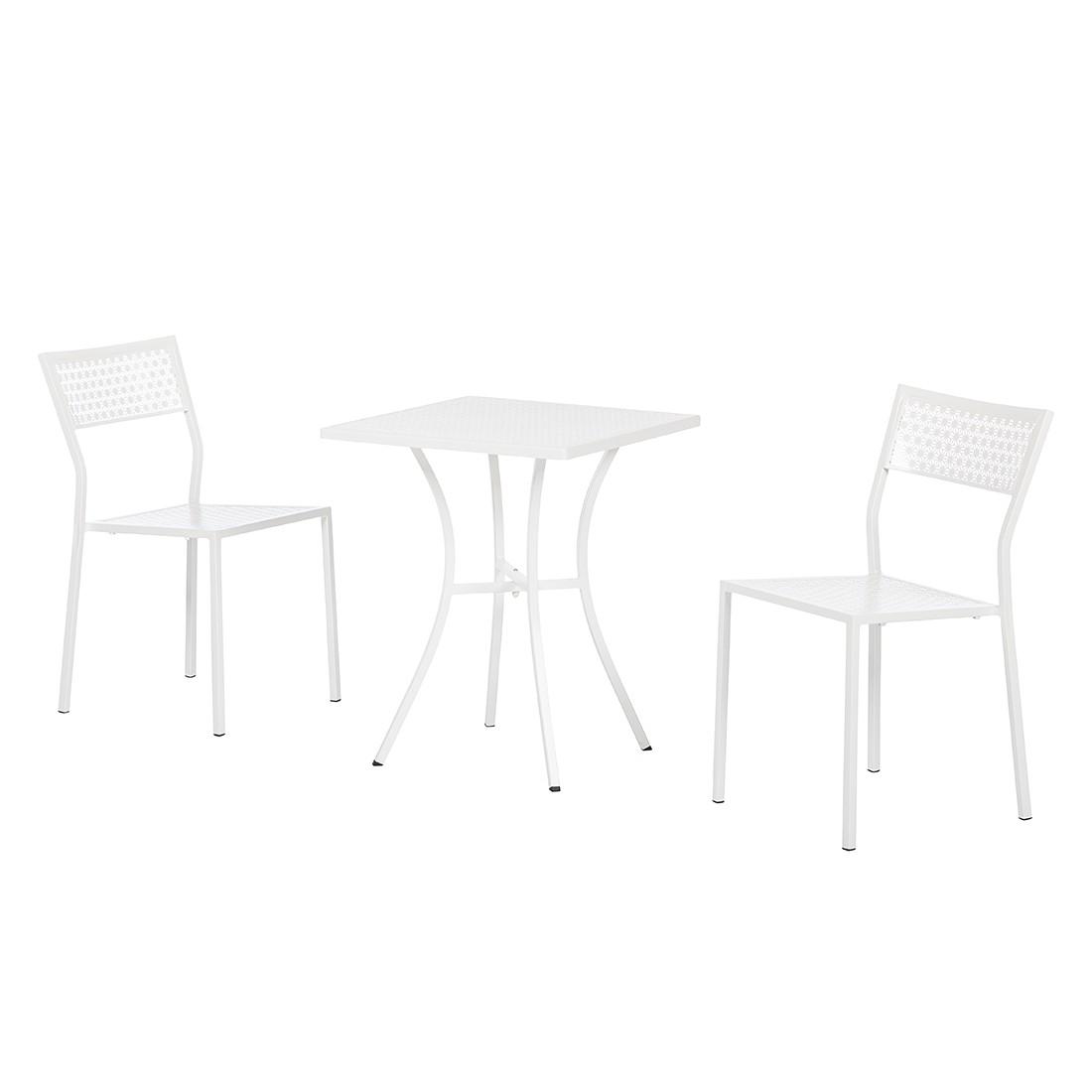 Balkonmöbelset Pini (3-teilig) - Stahl Weiß, Garden Guerilla
