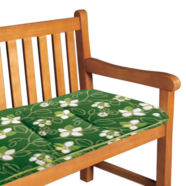 Bankauflage Bregenz - Floral gemustert - Grün, Best Freizeitmöbel