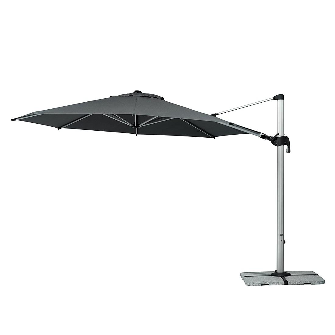 Barbados 350 Sonnenschirm - Aluminium/Polyester - Silber/Anthrazit, Schneider Schirme