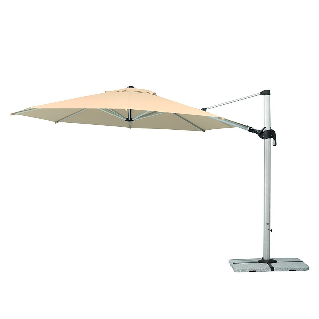 Barbados 350 Sonnenschirm - Aluminium/Polyester - Silber/Natur, Schneider Schirme