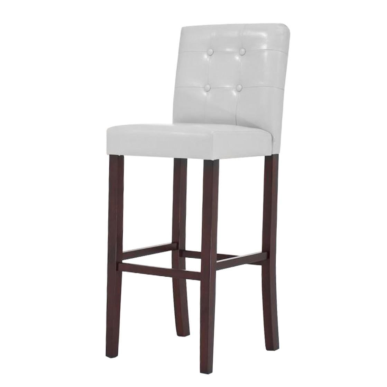 Barhocker Afina – Weiß -Holz/Kunstleder, CLP jetzt bestellen