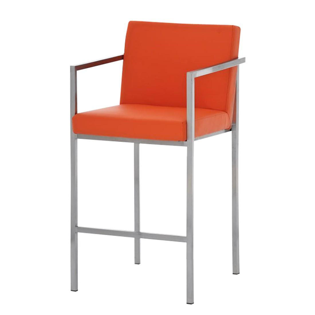 Barhocker Atlantic – Orange -Edelstahl/Kunstleder, CLP kaufen