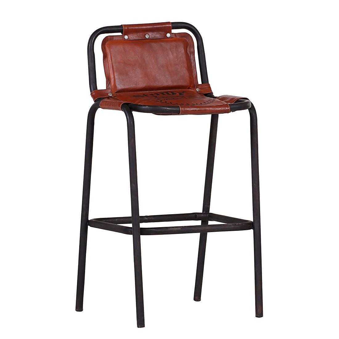 Barhocker Jano – Leder – Braun, furnlab kaufen