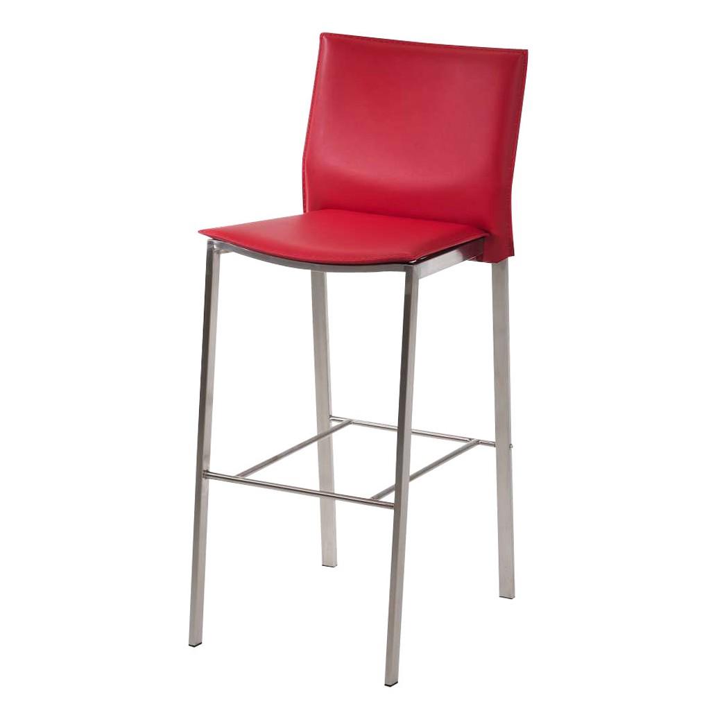 barhocker kopenhagen rot edelstahl kunstleder clp g nstig online kaufen. Black Bedroom Furniture Sets. Home Design Ideas