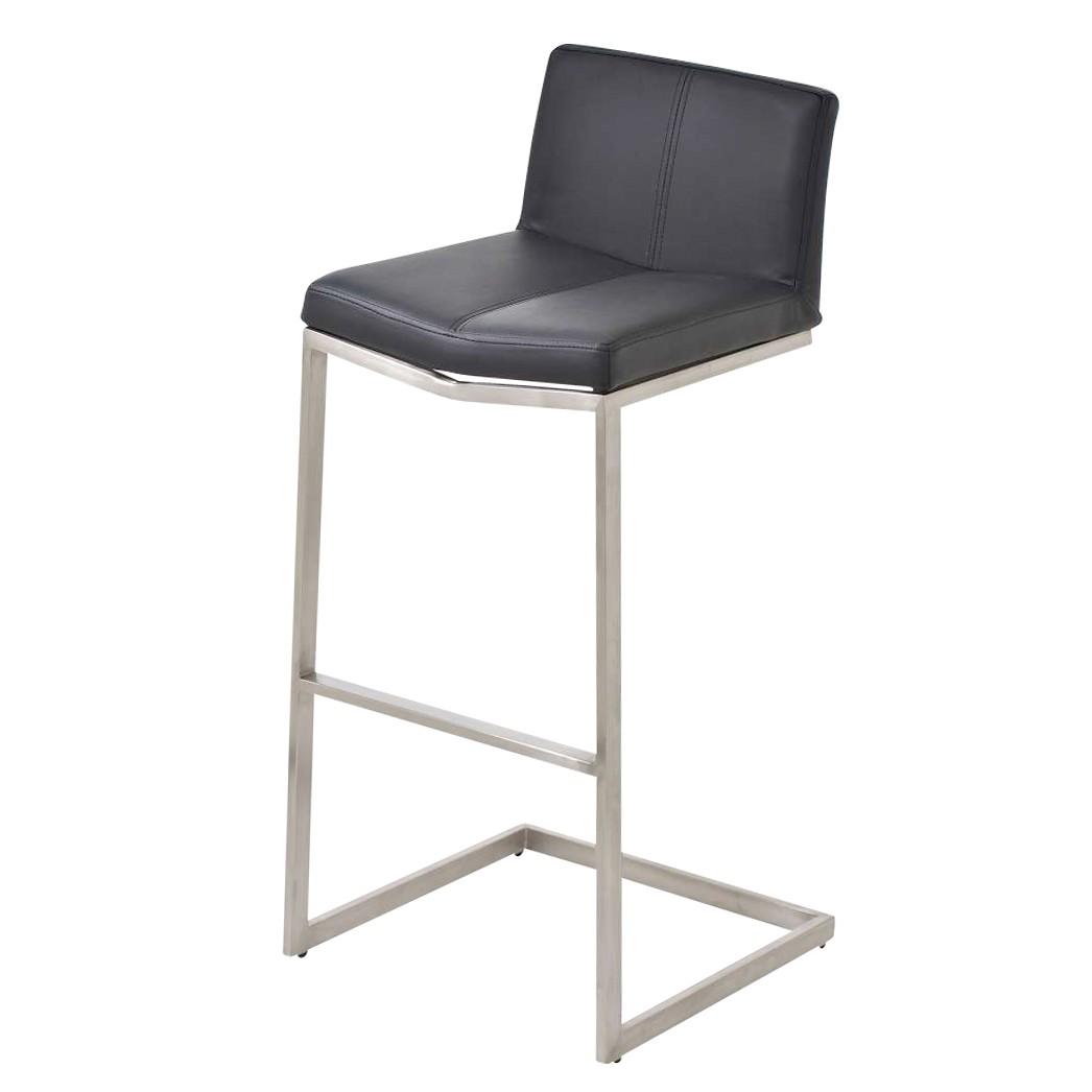 barhocker kos schwarz edelstahl kunstleder clp jetzt. Black Bedroom Furniture Sets. Home Design Ideas