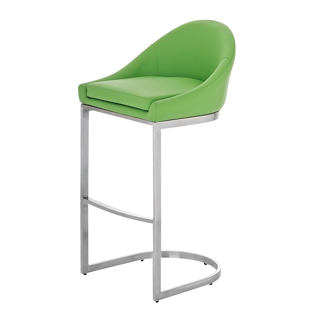 Barhocker Kreta – Grün -Edelstahl/Kunstleder, CLP jetzt bestellen