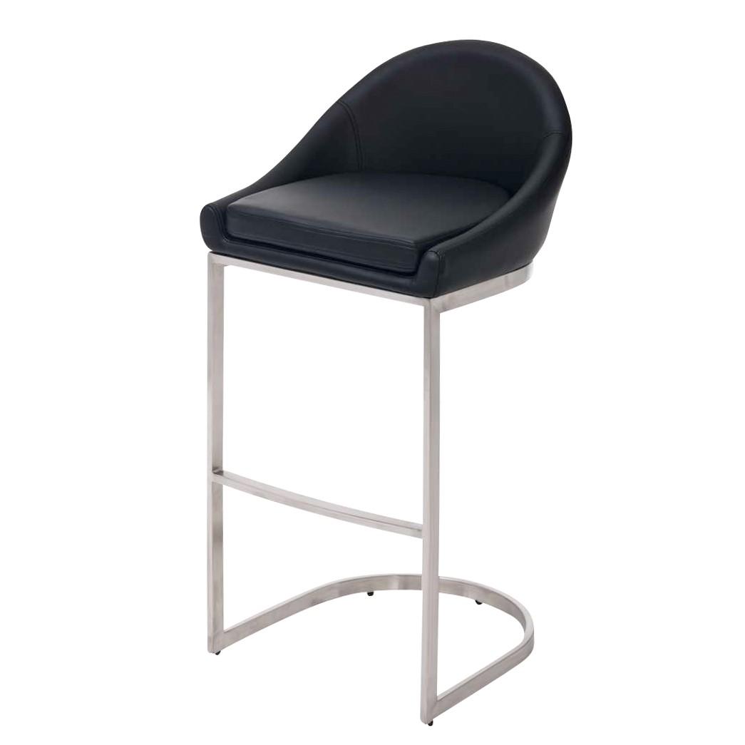 barhocker kreta schwarz edelstahl kunstleder clp. Black Bedroom Furniture Sets. Home Design Ideas