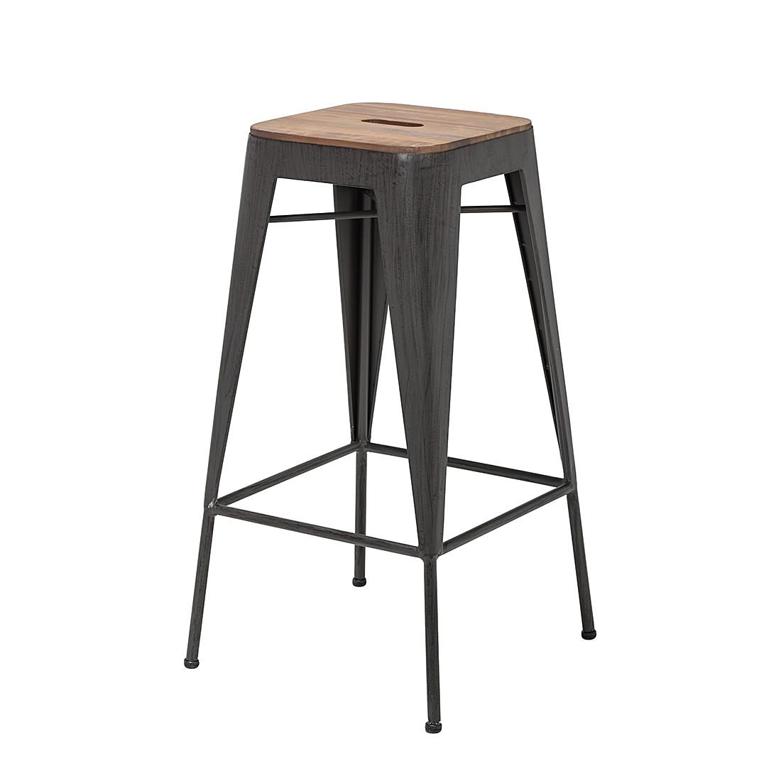 barhocker manchester 2er set akazie massiv metall ebay. Black Bedroom Furniture Sets. Home Design Ideas