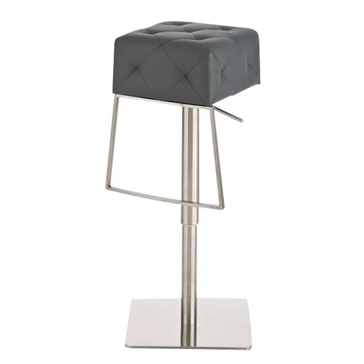Barhocker Mansfield – Grau -Edelstahl/Kunstleder, CLP jetzt kaufen
