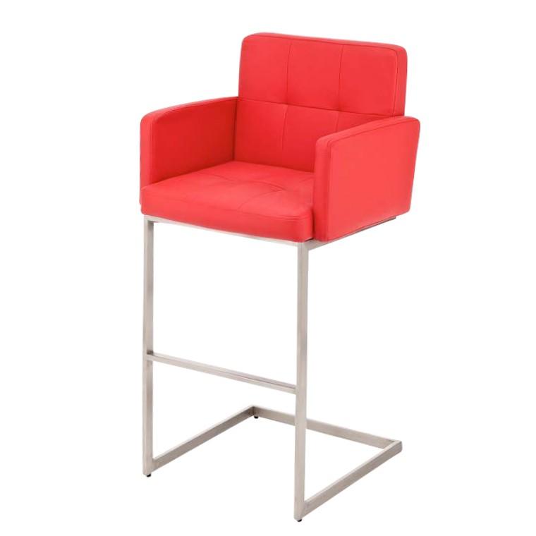 barhocker santa monica rot edelstahl kunstleder clp. Black Bedroom Furniture Sets. Home Design Ideas