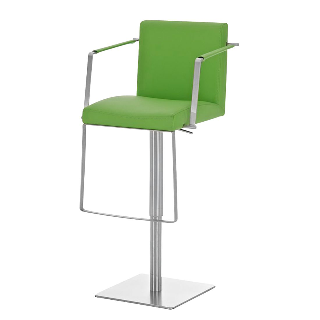 Barhocker Santiago – Grün -Edelstahl/Kunstleder, CLP günstig bestellen