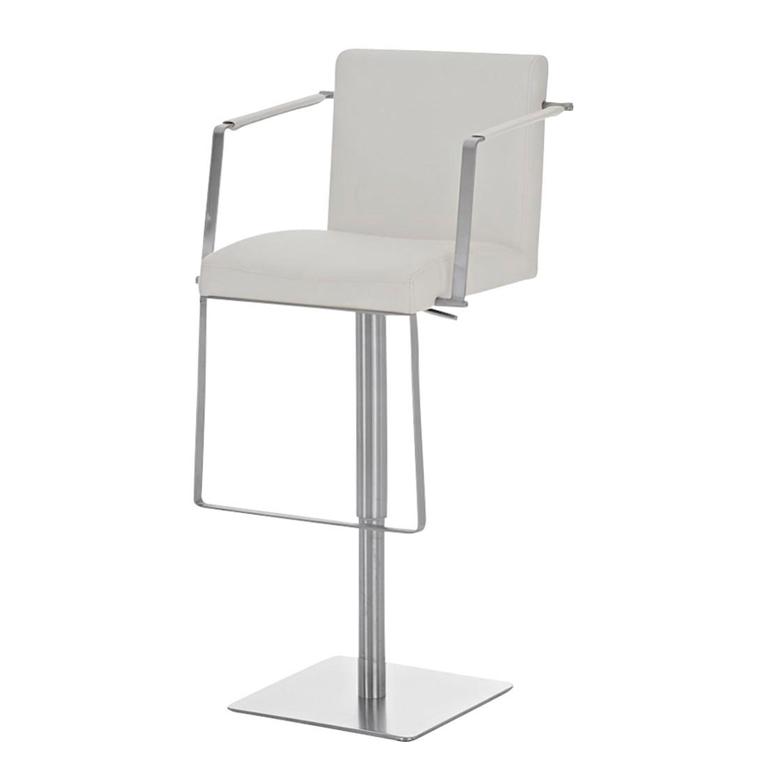 Barhocker Santiago – Weiß -Edelstahl/Kunstleder, CLP kaufen