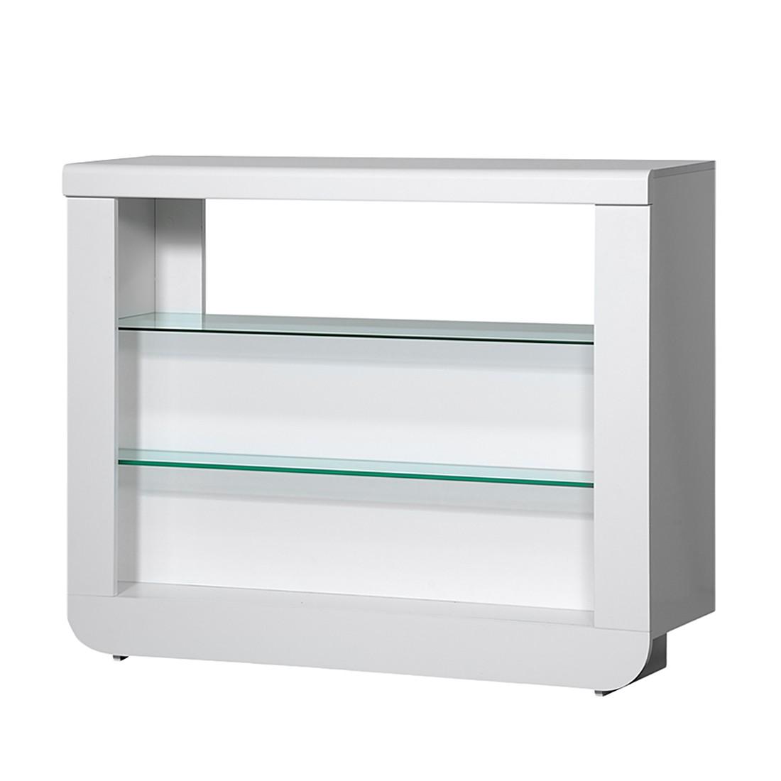 barm bel shine wei hochglanz glas halterungen f r. Black Bedroom Furniture Sets. Home Design Ideas
