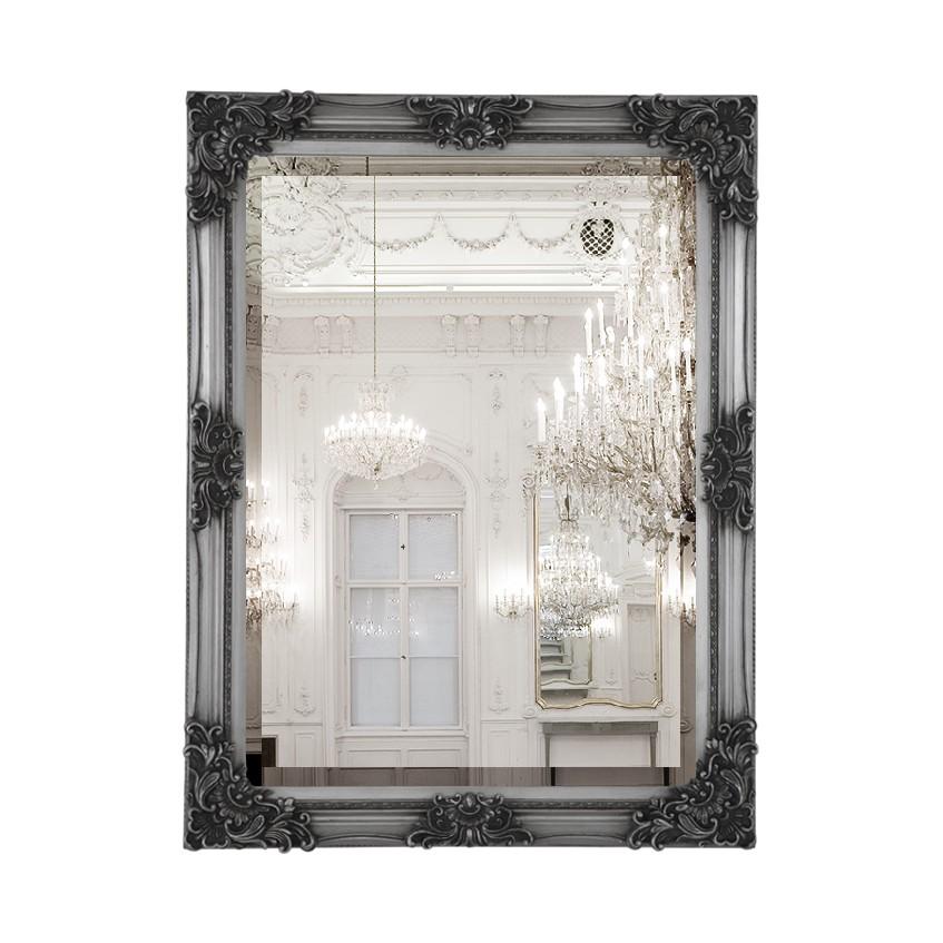 Barockspiegel Antique – Holz/Spiegelglas – Silber Antik/Silber, Tollhaus online bestellen