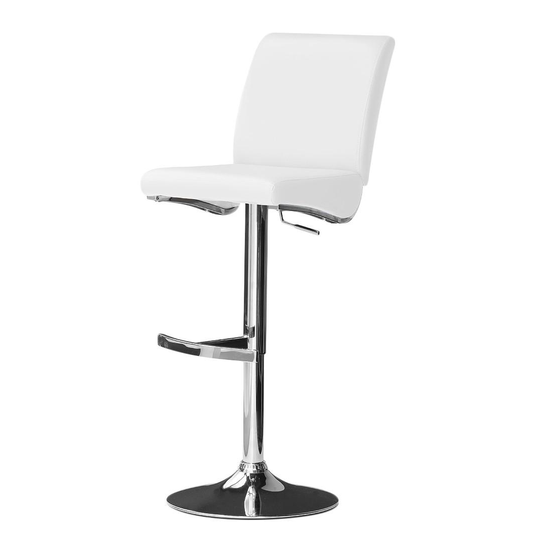 Barstuhl Hoover – Weiß – Runder Fuß, roomscape kaufen