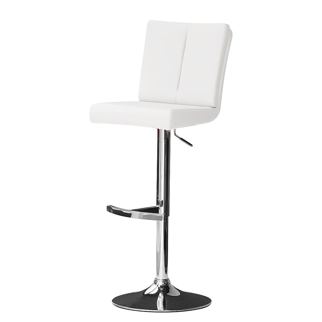 Barstuhl Jeremiah – Kunstleder – Weiß, roomscape jetzt kaufen