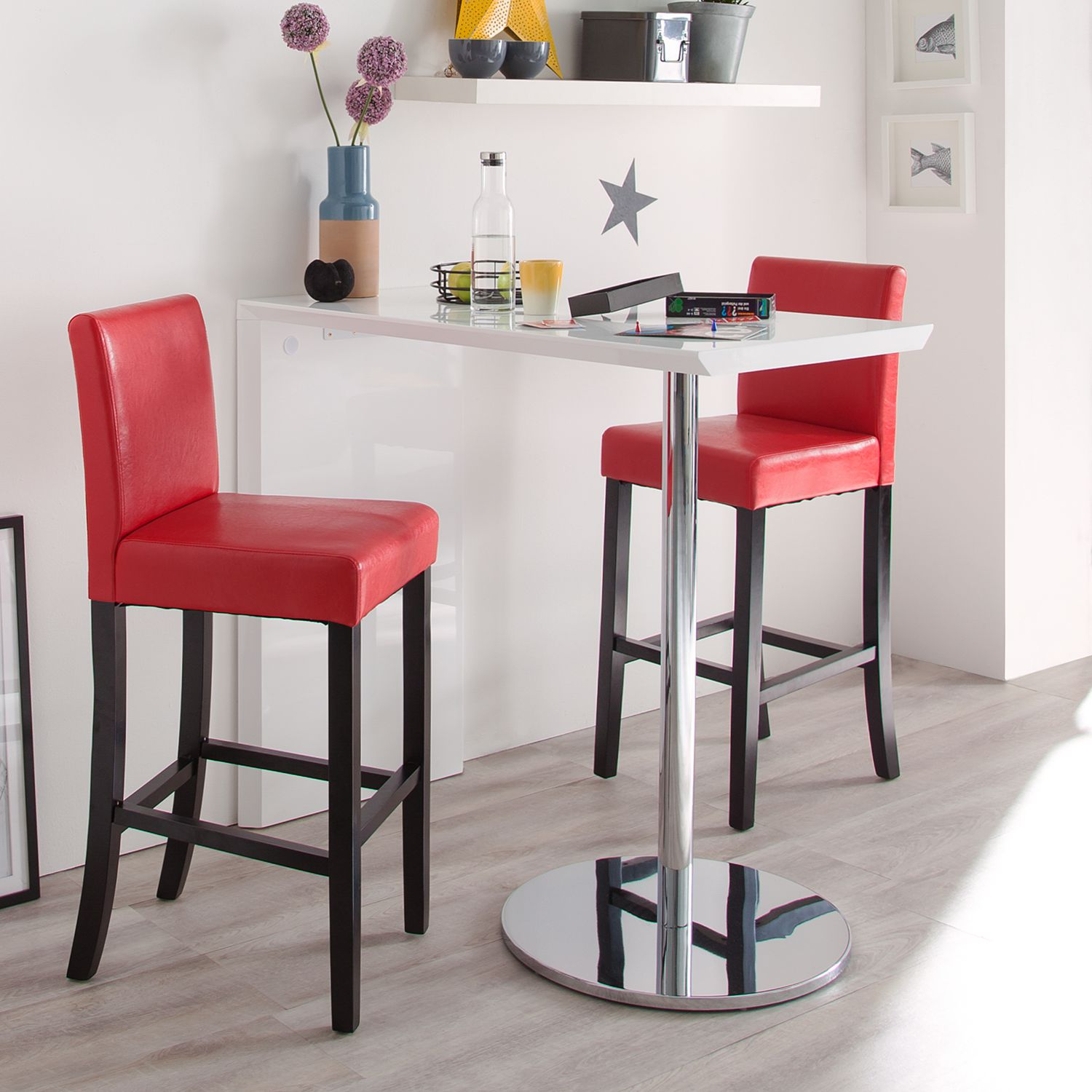 bartisch pierre hochglanz wei stehtisch bistrotisch bar tisch ebay. Black Bedroom Furniture Sets. Home Design Ideas