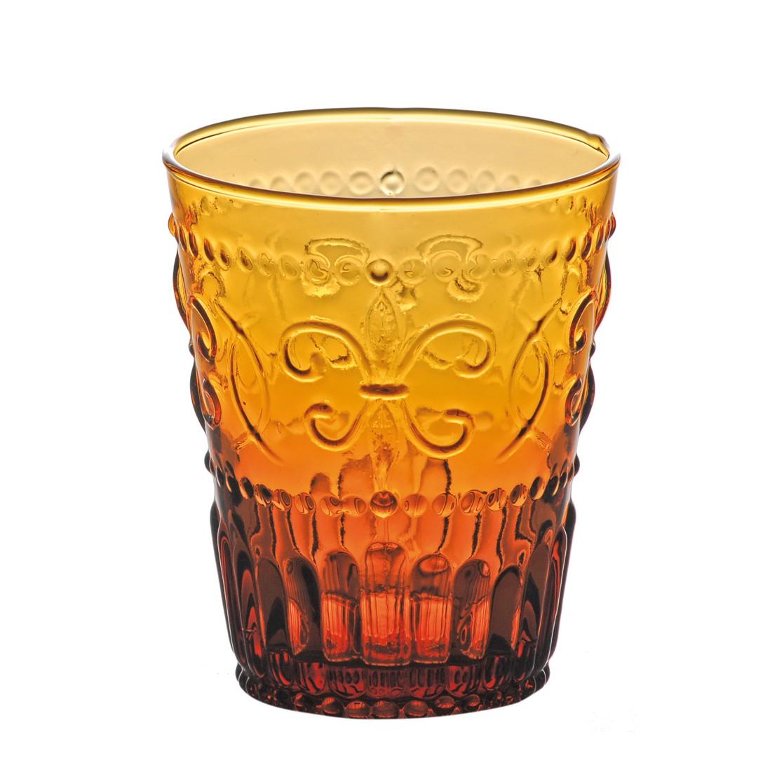 Trinkglas Firenze (6er-Set) – Glas – Bernstein, BITOSSI HOME günstig online kaufen
