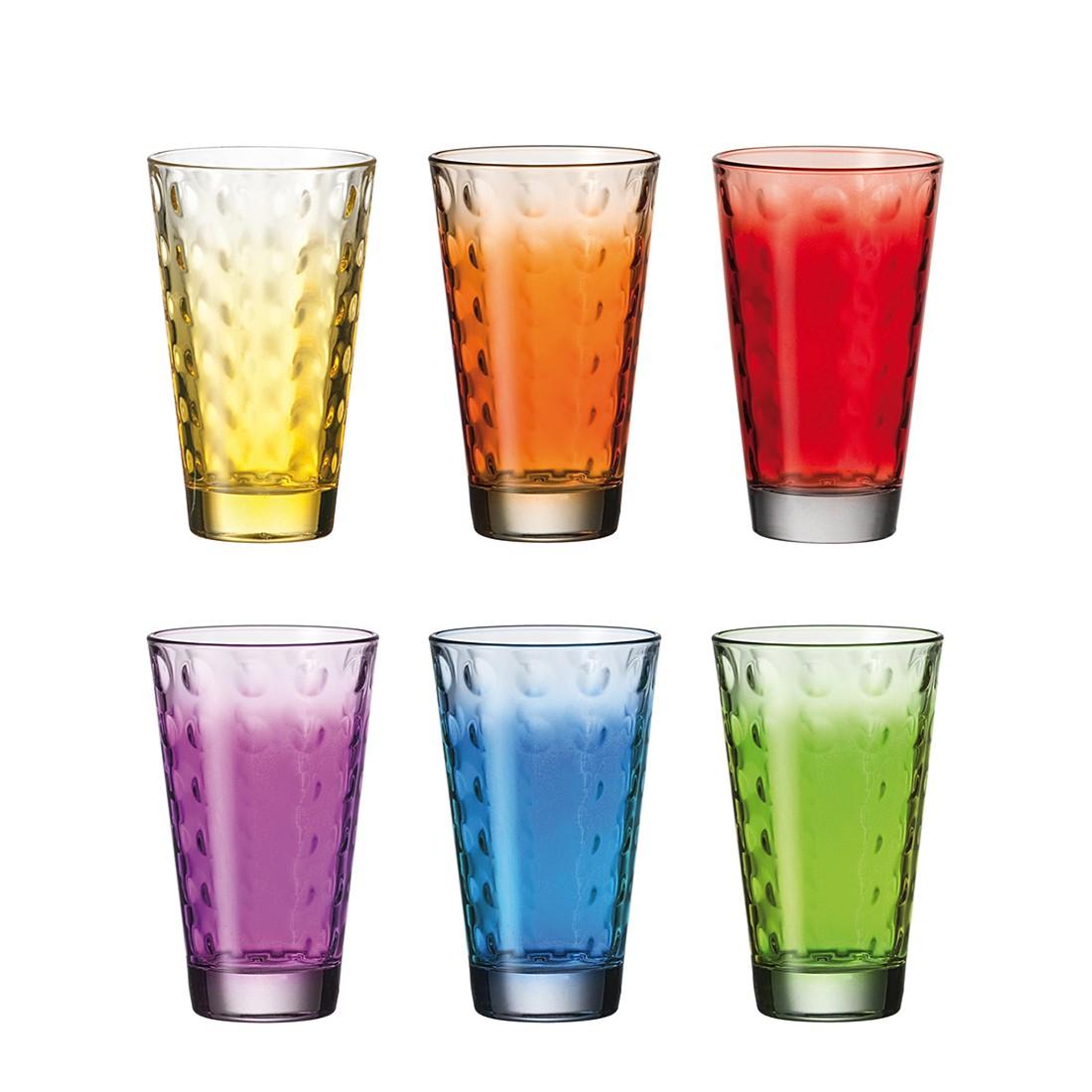 Becher optic 6er set gro farbig sortiert leonardo for Deckenleuchten farbig