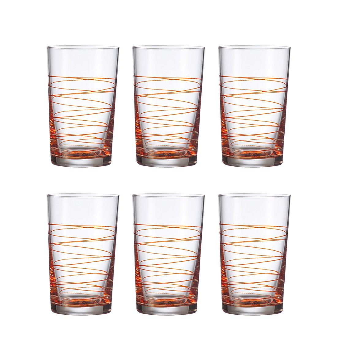 Becher Spirale (6er-Set) – Groß – Orange, Leonardo günstig online kaufen