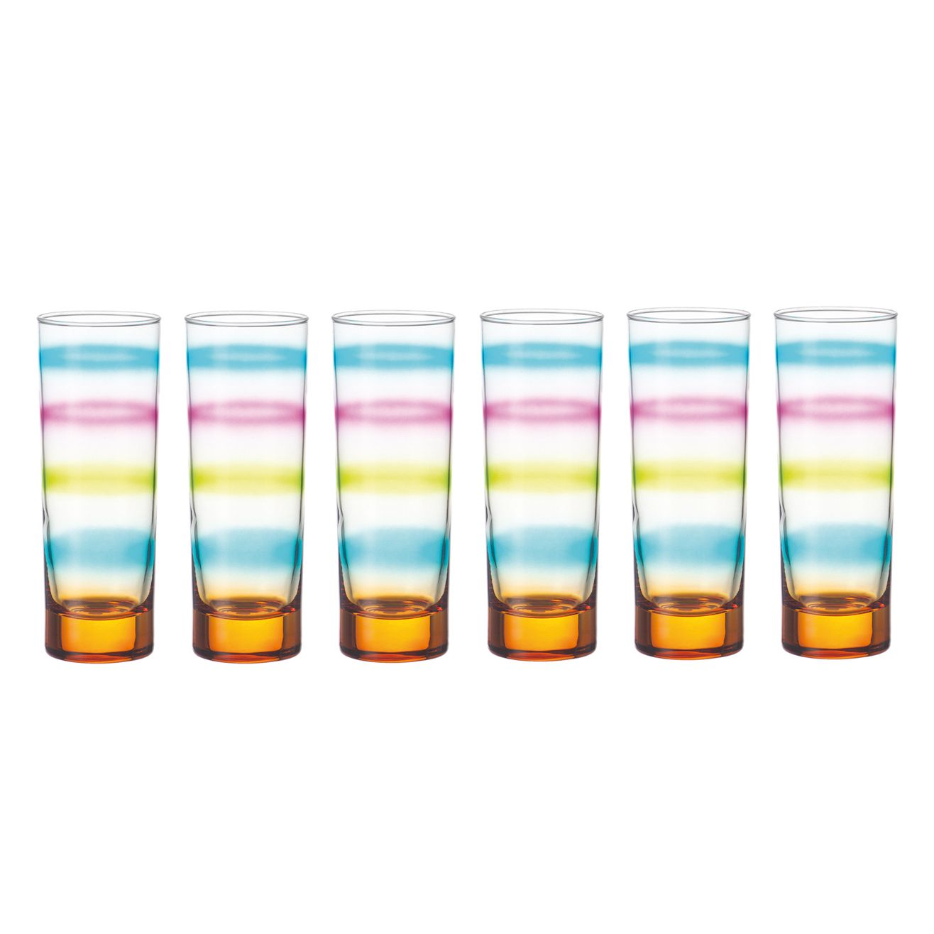 Becher Rainbow (6erSet) – Orange, Leonardo – MLNZAC