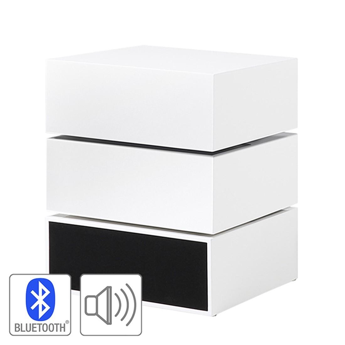 Beistelltisch Akko – Hochglanz Weiß, roomscape günstig bestellen