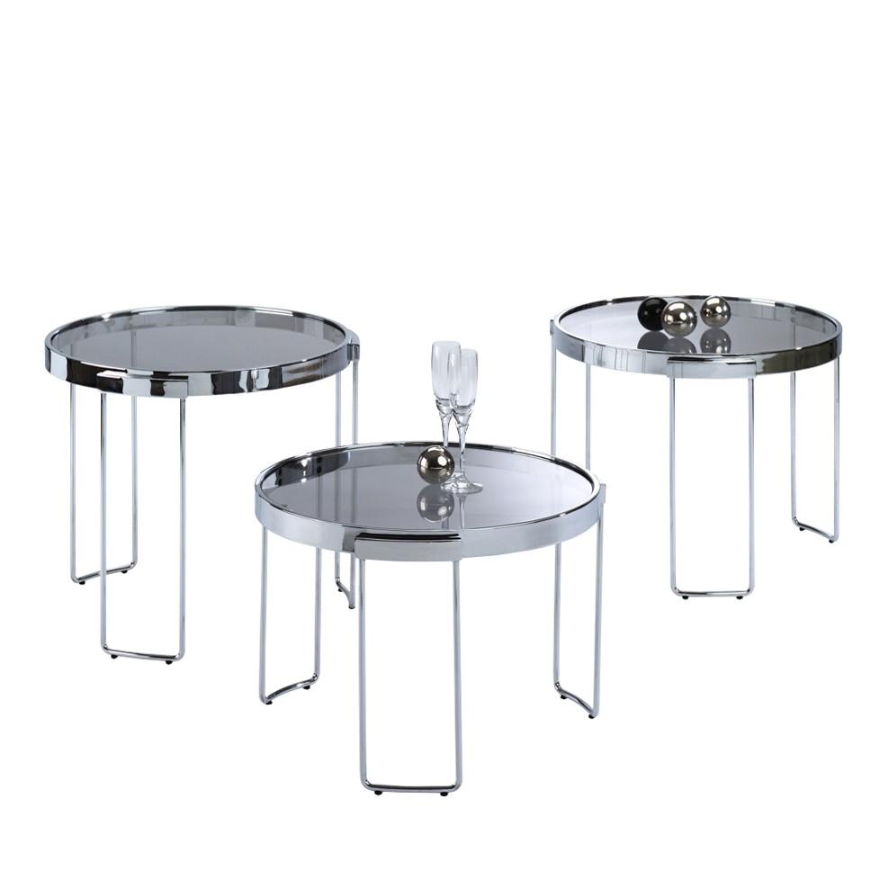 Preisvergleich eu beistelltisch glas rund for Beistelltisch metall glas