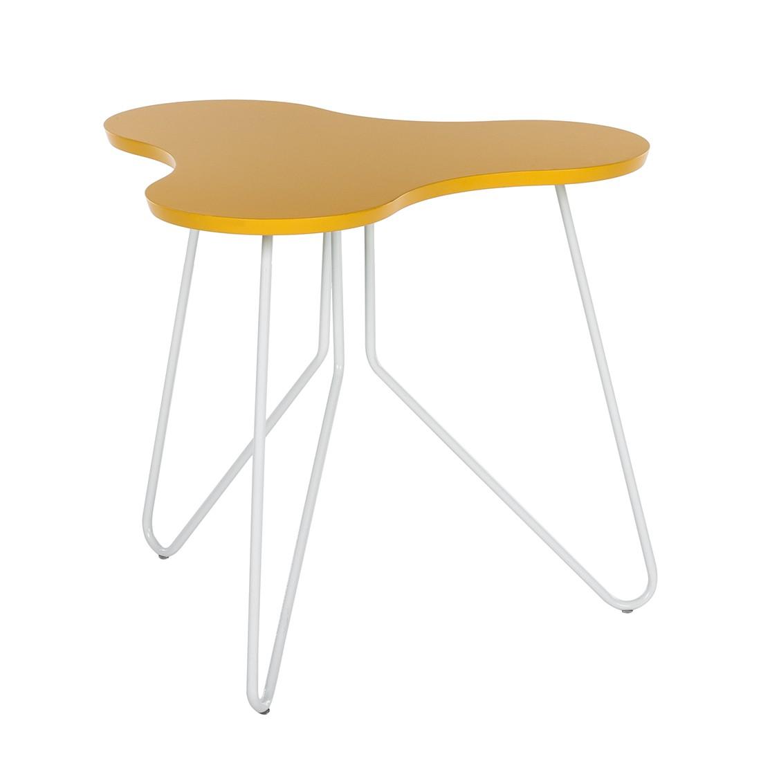 Beistelltisch Fadi – Gelb/Weiß, re:concept online kaufen