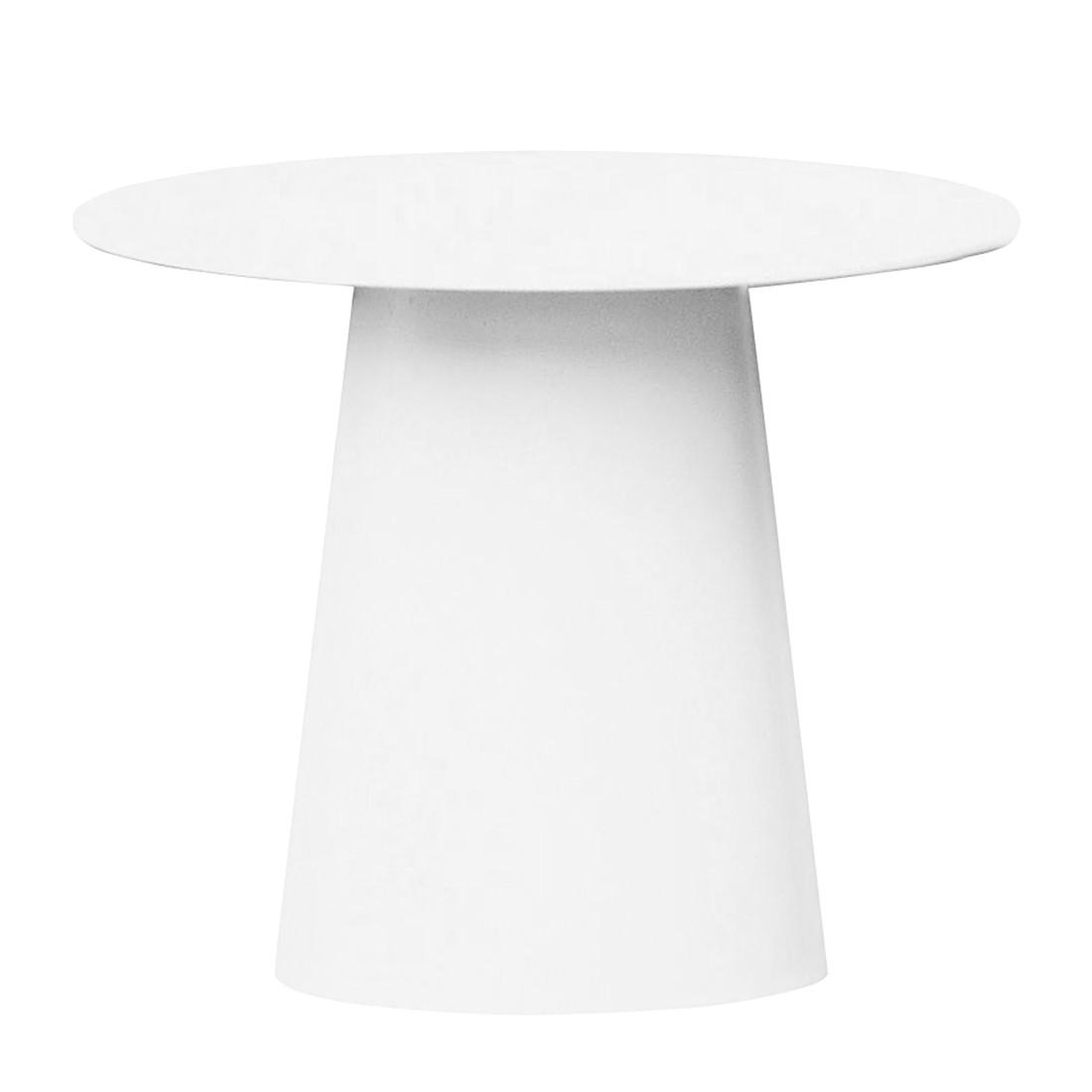 Beistelltisch Feel - Aluminium Weiß - Durchmesser: 80 cm, Jan Kurtz