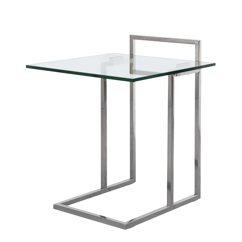 Beistelltisch glas chrom eckig  Glasbeistelltisch ~ Bestes inspirationsbild für Hauptentwurf