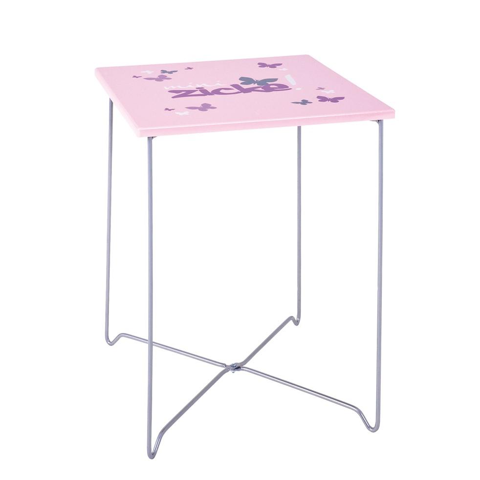Beistelltisch Kiddy – MDF/Metall – Pink/Verchromt, Tollhaus günstig online kaufen