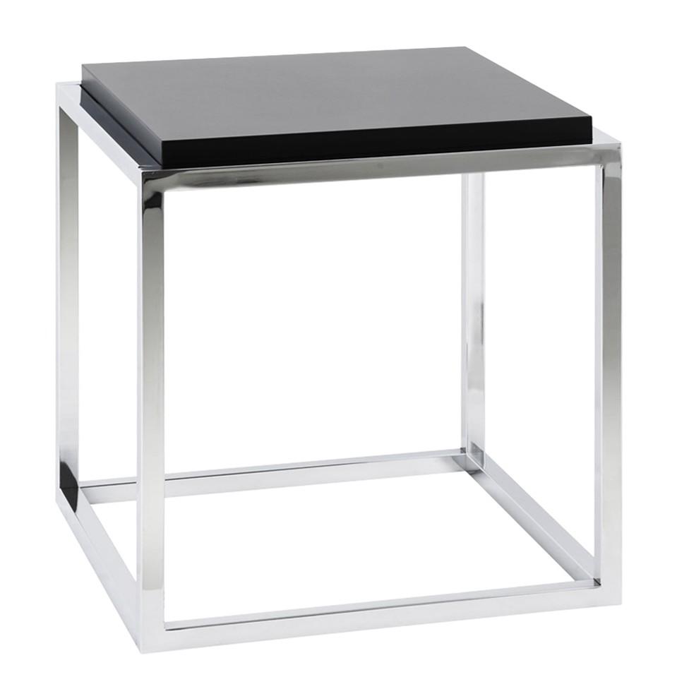 Table d 39 appoint kvadra m tal noir kokoon le fait main - Table d appoint metal noir ...
