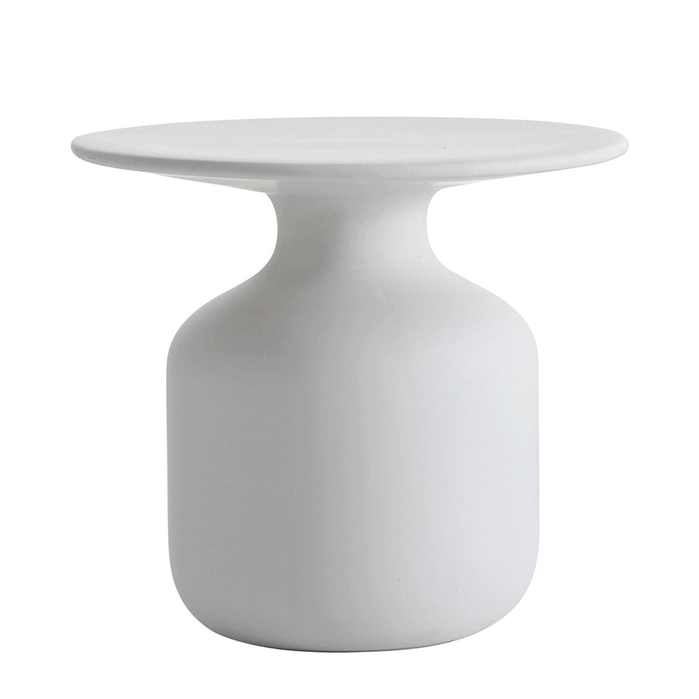 Beistelltisch Mini Bottle - Keramik - Weiß, Cappellini