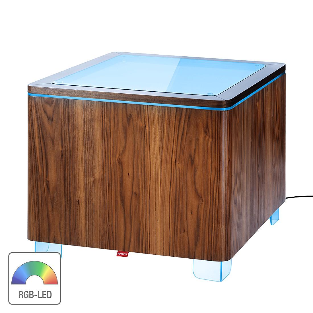 eek a beistelltisch ora walnuss mit led beleuchtung fernbedienung moree g nstig. Black Bedroom Furniture Sets. Home Design Ideas