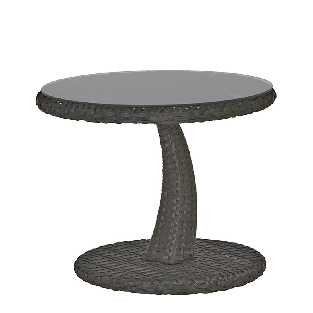 Beistelltisch Rio - Aluminium/Gardino®-Geflecht - Anthrazit, Siena Garden