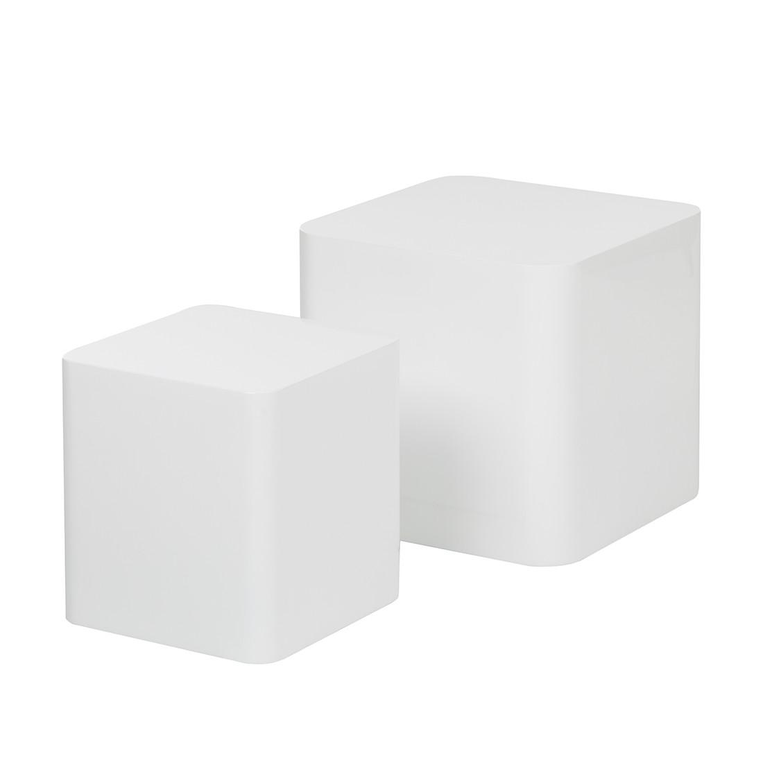Bijzettafelset Square - wit hoogglans, Studio Monroe