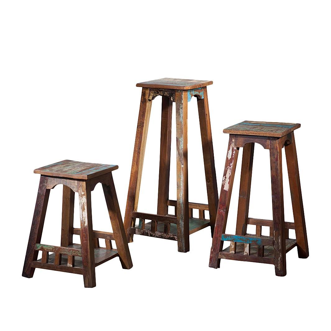 Beistelltisch Vintage – Recyclingholz – Bunt – Ausführung: Höhe: 50 cm, ars manufacti online kaufen