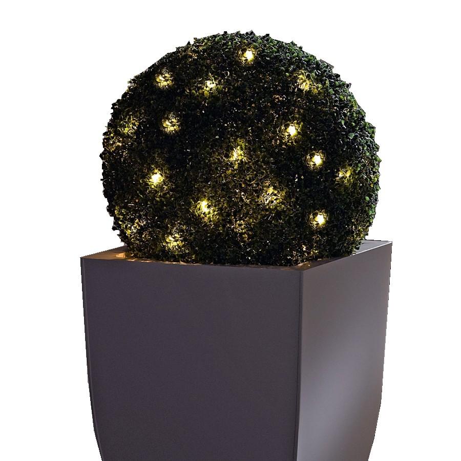 Beleuchtete Kunstpflanze Buchsbaumkugel ● Kunststoff ● Grün- Pure Day A+