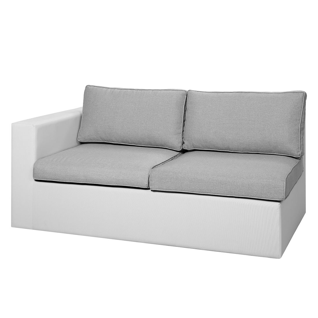 Gartensofa Kuba II - Ergotex - Weiß, Best Freizeitmöbel