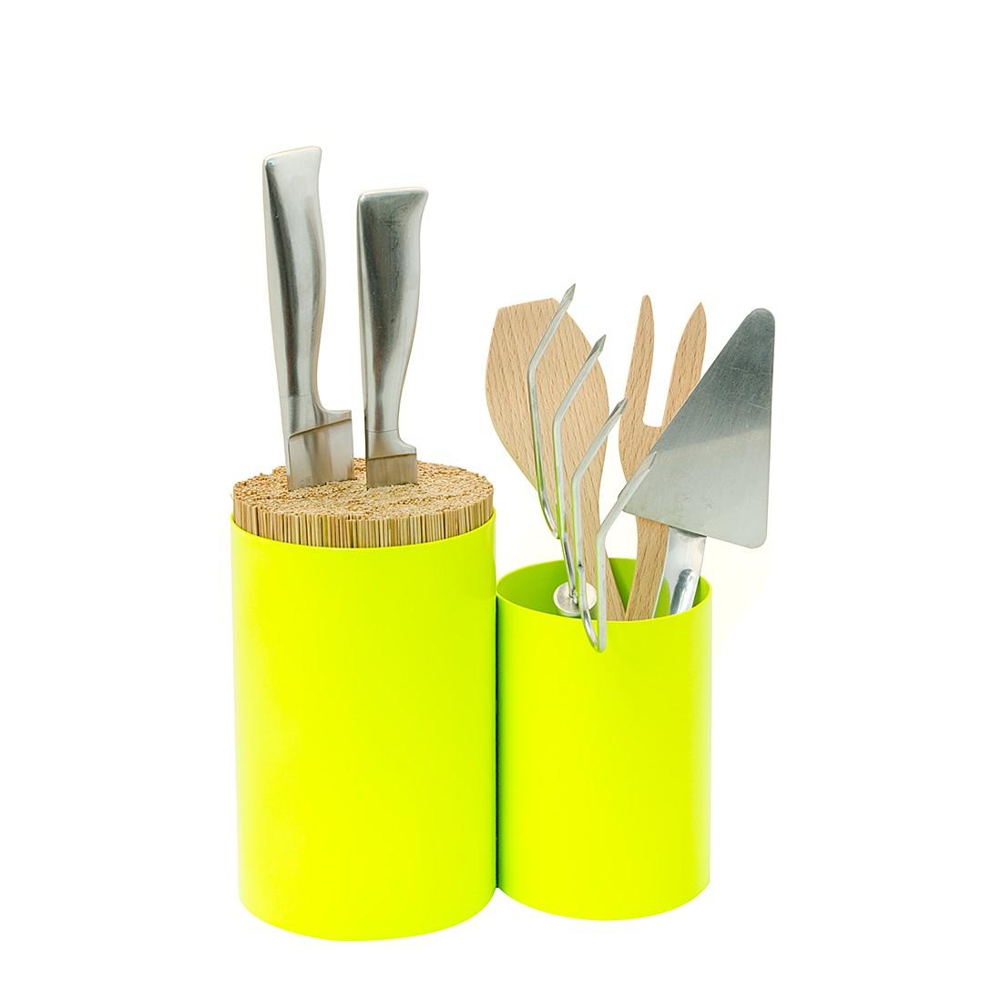 Besteckbehälter Knife & Spoon – Stahl – Lime, Wireworks online kaufen