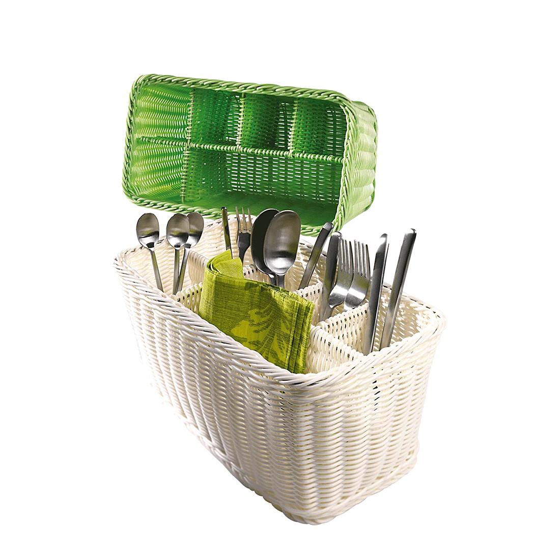 Besteckkorb – Kunststoff – Grün, PureDay günstig
