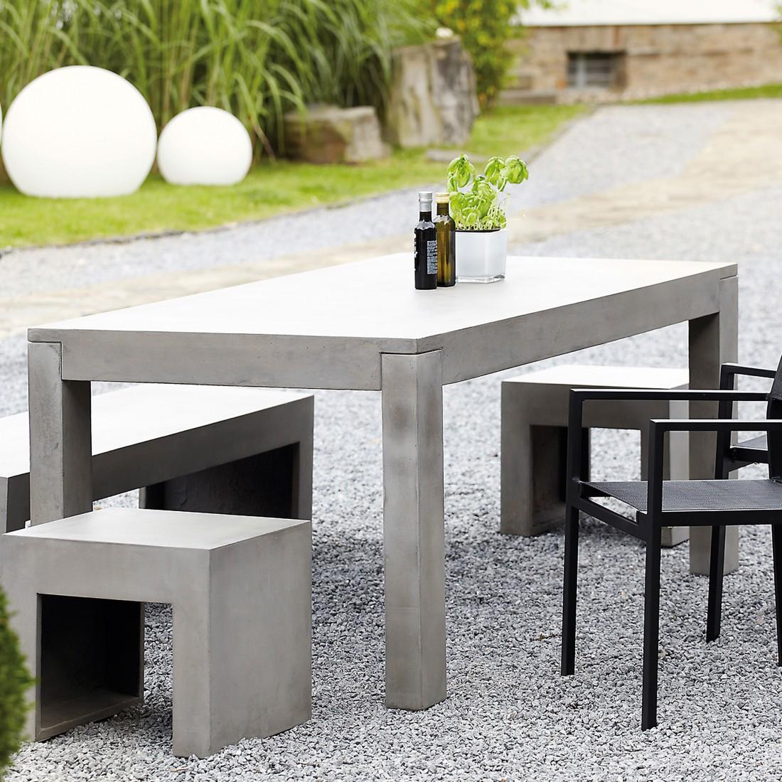 beton tisch beton grau jan kurtz q ik 21148 kauf dir. Black Bedroom Furniture Sets. Home Design Ideas