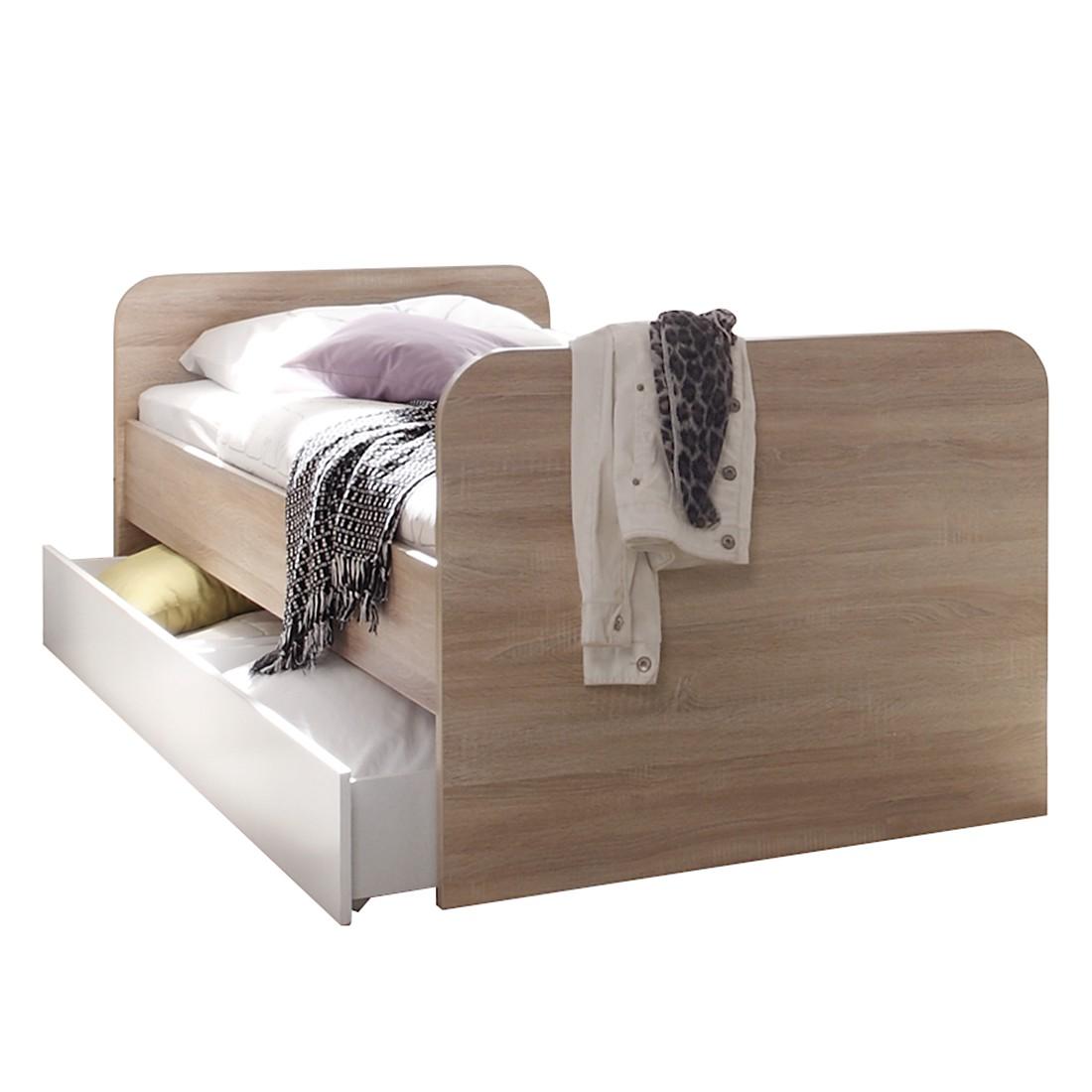 bett corner sonoma eiche wei mooved jetzt kaufen. Black Bedroom Furniture Sets. Home Design Ideas