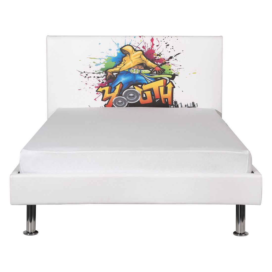bett graffiti wei 120 x 200cm neue modular. Black Bedroom Furniture Sets. Home Design Ideas